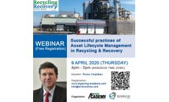 Webinar on Successful practices of Asset Lifecycle Management in Recycling & Recovery in Asia, April 9