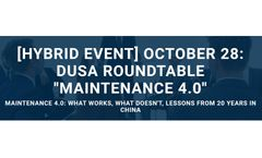 Siveco to speak at DUSA Roundtable on Maintenance 4.0: what works, what doesn't (October 28, Suzhou)