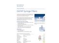 Whatman - Model GD/XP - Syringe Filters - Brochure