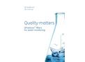 GE Whatman - Model PM2.5 PTFE - Air Monitoring Membrane Filters - Brochure