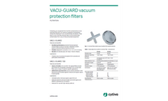 Cytiva - Model VACU-GUARD 150 - Vacuum Protection Filters - Datasheet