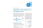 GE Whatman - Model Mini-UniPrep G2 - Hand Compressor - Brochure