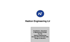 Bi-Lobe (SR) and Tri-Lobe (HE) Blowers - Operatons and Maintenance Manual