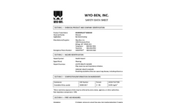 ENVIROPLUG MEDIUM & COARSE Bentonite Chips - Safety Data Sheet