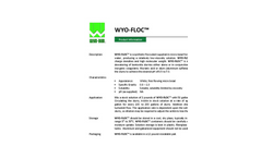 WYO-FLOC Synthetic Flocculant - Brochure