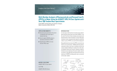 Application Note: Multi-Residue Analysis of Pharmaceuticals and Personal Care Products (PPCPs) in Water