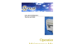 Sol-Air - F2000 - Air Decontamination System - Manual
