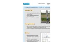 Precipitation measurement with GPRS data transmission