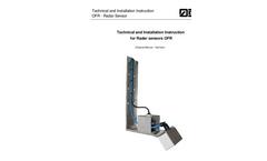 OFR Radar - Contactless Flow Measurement - User Manual