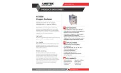 Thermox - Model CG1000 - Portable Oxygen Analyzer - Data Sheet