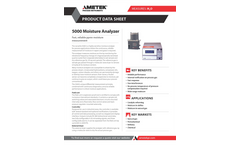 AMETEK PI - Model 5000 - Process Moisture Analyzer - Datasheet