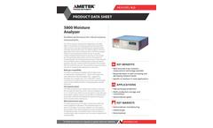 AMETEK PI - Model 5800 - Moisture Analyzer - Datasheet
