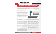 Low Level Moisture Measurement in Natural Gas - Application Notes