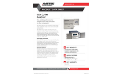 THERMOX Model CEM O2 TM Oxygen Analyzer Datasheet