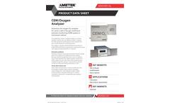 THERMOX CEM/O2 Oxygen Analyzer - Datasheet