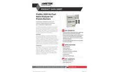 Premix Air Fuel Ratio Analyzer for Premix Burners - Application Notes