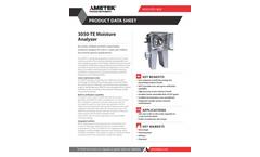 AMETEK Model 3050 TE Moisture Analyzer Datasheet