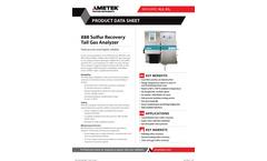 AMETEK - Model WR-888 - Sulfur Recovery Unit (SRU) Analyzers - Data Sheet