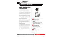 Heated Acid Gas (HAG) Sampling Probe - Datasheet