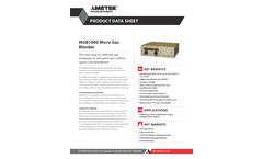 AMETEK PI - Model MGB1000 - Micro Gas Blender - Datasheet
