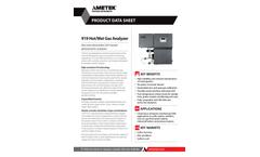 919 Hot/Wet Single Gas Analyzer - Datasheet