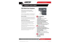 920 Multi-Gas Analyzer - Datasheet