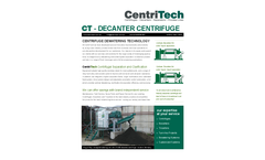 CentriTech - Model CT Series - Solid-Bowl Decanter Centrifuges - Brochure