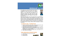 AdEdge - Modular Water Treatment Systems - Brochure