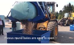 Baling of Wood Chips with Flexus Balers for Efficient Handling of Biomass - Video