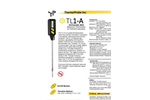 Model TL1-A - Digital Portable Stem Laboratory Thermometer Brochure