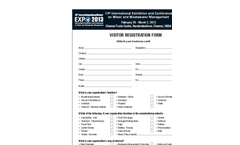 10th EverythingAboutWater Expo 2013 International Exhibition & Conference on Water & Waste Visitor Registration Form