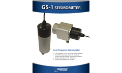 Model GS-1 - Low Frequency Seismometer Sensor Brochure