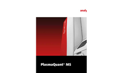 PlasmaQuant - MS Series - ICP-MS for Efficient Routine Analysis - Brochure