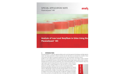 Analysis of Low Level Beryllium in Urine Using the PlasmaQuant MS - Special Application Note