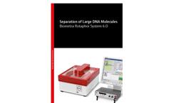 Biometra Rotaphor System 8 Separation of Large DNA Molecules - Brochure