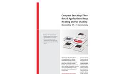 Biometra TS1 ThermoShaker Compact Benchtop Thermomixer - Brochure
