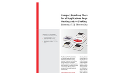 Biometra TSC ThermoShaker Compact Benchtop Thermomixer with Cooling Feature - Brochure