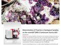 Determination of Fluorine in Geological Samples on the contrAA® 800 G Continuum-Source AAS