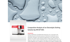 Composition Analysis of an Electrolytic Etching Solution by HR ICP-OES
