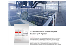 TOC Determination in Electroplating Bath Solutions by UV Digestion