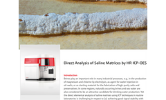 Direct Analysis of Saline Matrices by HR ICP-OES
