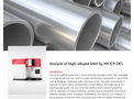 Analysis of High-alloyed Steel by HR ICP-OES