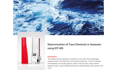 Determination of Trace Elements in Seawater using ICP-MS
