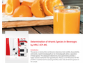 Determination of Arsenic Species in Beverages by HPLC-ICP-MS