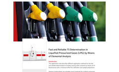 Fast and Reliable TS Determination in Liquefied Pressurized Gases (LPG) by Means of Elemental Analysis