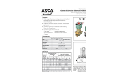 ASCO - Model 2/2 - Series 210 - 2 Way Solenoid Valve Brochure