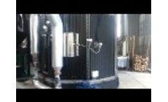 Boiler Thermal Oil - Fiber Cork / Biomass Burning Video