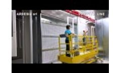 Painting Line for Windows and Doors Video