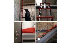 IVERNA 2000 - Model Inoxpat - Adjustable Safety Ladder