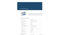 Fusion - Model 200 - Two Channel Modular Syringe Pump Specification Sheet